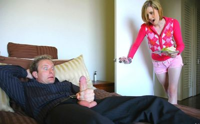 she catches him